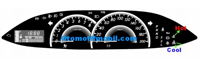 Panel instrument Toyota New Vios