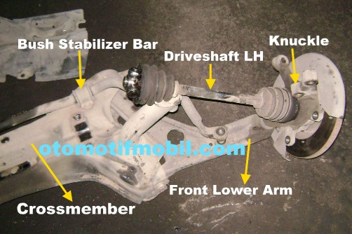 crossmember lower arm driveshaft kiri mobil vios limo 2003