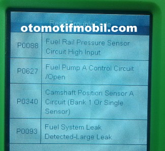 gamabr data trouble code pada ford ranger 2009