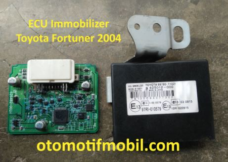 Ecu Immobilizer toyota fortuner 2004
